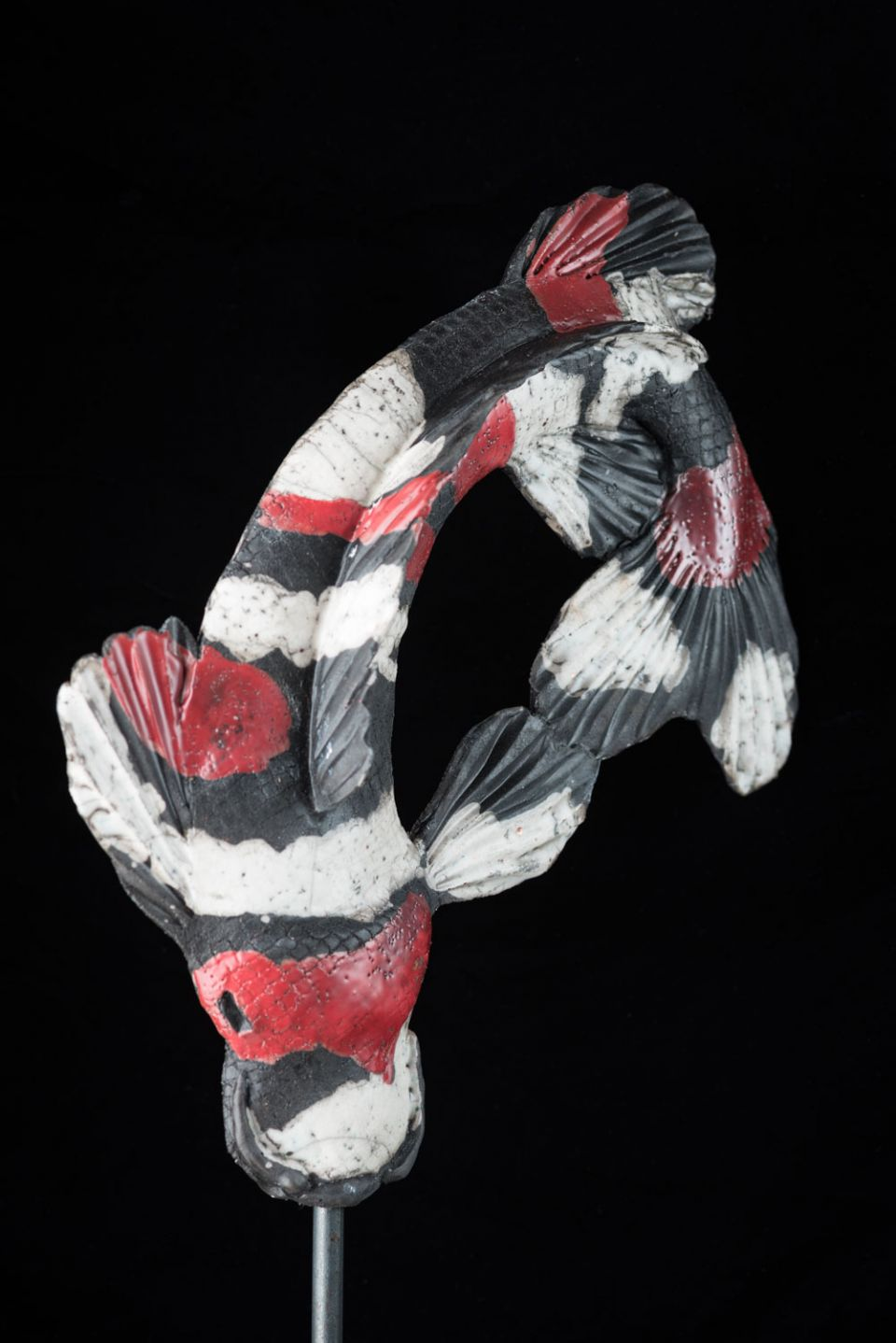 Association of sculptors of victoria sculpture for Red and white koi fish