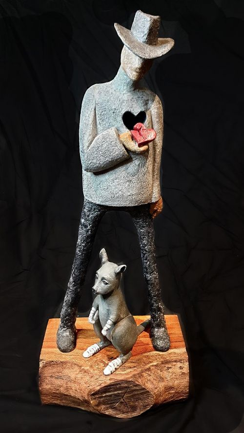 Heartbroken 2020 sculpture by Anne Anderson