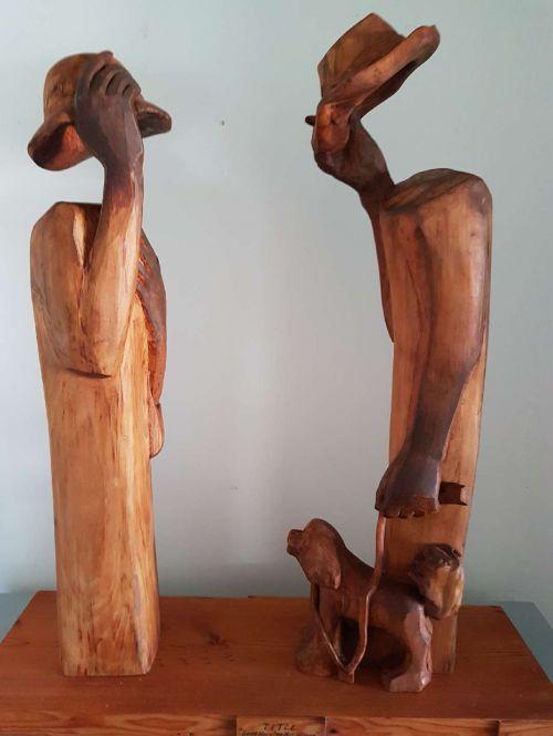 Good morning Mrs Watson, Good morning Mr Wilson sculpture by Anthony Kim