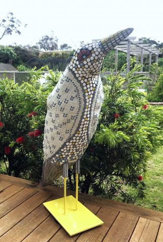 Bird with Knitted Jacket
