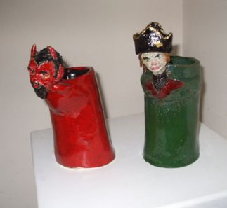 Toby Jugs - Pirate and Mephistopheles