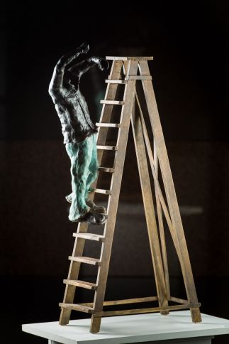 """Jeans and Shirt on Ladder """"Oops!"""""""
